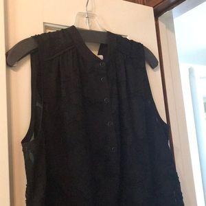CABI sleeveless black burnout too